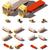 vector · isometrische · vrachtwagen · container · oplegger - stockfoto © tele52