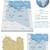 リビア · 政治的 · 地図 · 重要 · 都市 - ストックフォト © tele52