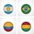 kumaş · doku · bayrak · Brezilya · mavi · yay - stok fotoğraf © tele52