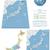 север · Южная · Корея · политический · карта · Сеул · полуостров - Сток-фото © tele52