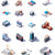isometric factory and office buildings set stock photo © tele52