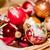 piros · arany · hópehely · karácsony · golyók - stock fotó © tepic