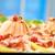 frio · delicioso · fumado · carne · salame - foto stock © tepic