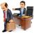 wykonawczej · pracownika · biuro · wskazując · na · zewnątrz · ramki - zdjęcia stock © texelart
