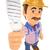 3D · elektryk · żarówka · pracy · ludzi · ilustracja - zdjęcia stock © texelart