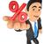 3d businessman showing in percent symbol sales concept stock photo © texelart