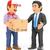 3D · super · caixa · trabalhando · pessoas - foto stock © texelart