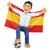 счастливым · испанский · футбола · вентилятор · флаг - Сток-фото © texelart