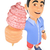 3d young man in shorts with an ice cream cone stock photo © texelart
