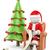3d white people santa claus on his sofa reading wishlist stock photo © texelart