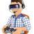 homem · virtual · realidade · fone · óculos · 3d · 3D - foto stock © texelart