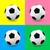 futballabda · futball · szett · színes · hátterek · zöld - stock fotó © TheModernCanvas