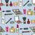 Cartoon Cosmetics Seamless Background stock photo © Theohrm