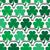 St Patrick's Layered Shamrocks Background stock photo © Theohrm