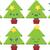 20 · diferente · árvore · de · natal · projeto · conjunto · árvore - foto stock © theohrm