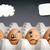 gondolatbuborék · tojás · betűk · mentális · egészség · játékos · stílus - stock fotó © thp