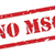 no msg rubber stamp stock photo © thp