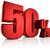 3D · 赤 · 50 · 50 · パーセント · 白 - ストックフォト © threeart