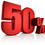 red 50 percent stock photo © threeart