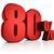 red 80 percent stock photo © threeart