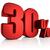 red 30 percent stock photo © threeart