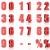 3D · красный · пятьдесят · три · процент · белый - Сток-фото © threeart