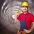 man in tunnel stock photo © tiero