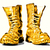 golden combat boots stock photo © tiero