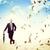 3d · ember · eső · 3d · render · férfi · sétál · gyors - stock fotó © tiero