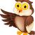 uil · vogel · buit · hart · ontwerp · kunst - stockfoto © tigatelu