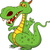 cute green dragon cartoon stock photo © tigatelu
