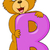alphabet b with bear cartoon stock photo © tigatelu