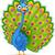 декоративный · декоративный · павлин · птица · глаза · лице - Сток-фото © tigatelu