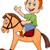little boy on a toy horse stock photo © tigatelu