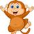 engraçado · dança · macaco · desenho · animado · árvore · bebê - foto stock © tigatelu