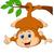baba · majom · fa · aranyos · tart · banán - stock fotó © tigatelu