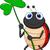 bonitinho · joaninha · folha · grama · feliz · verão - foto stock © tigatelu
