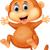 rajz · majom · integet · illusztráció · fogak · mosolyog - stock fotó © tigatelu