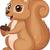 cute squirrel cartoon holding nut stock photo © tigatelu