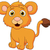 cute baby lion cartoon stock photo © tigatelu