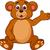 aranyos · medve · integet · mosoly · boldog · háttér - stock fotó © tigatelu