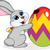 cute rabbit painting an easter egg stock photo © tigatelu