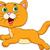 кошки · оранжевый · улыбка · улыбаясь · ходьбы · Cartoon - Сток-фото © tigatelu