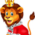 cartoon lion in king outfit stock photo © tigatelu