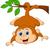 aranyos · szöcske · rajz · áll · integet · mosoly - stock fotó © tigatelu