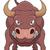 cômico · desenho · animado · boi · retro · estilo - foto stock © tigatelu