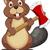 beaver with ax stock photo © tigatelu