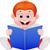 cute boy reading book stock photo © tigatelu