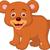 cute baby bear cartoon stock photo © tigatelu