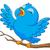 blue bird singing stock photo © tigatelu